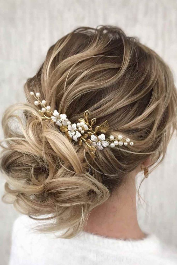 Messy Low Bun For Curly Hair #curlyhair #hairaccessories
