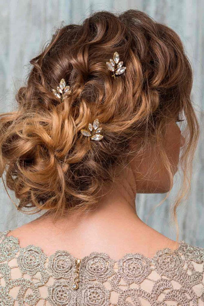 Messy Low Bun For Curly Hair