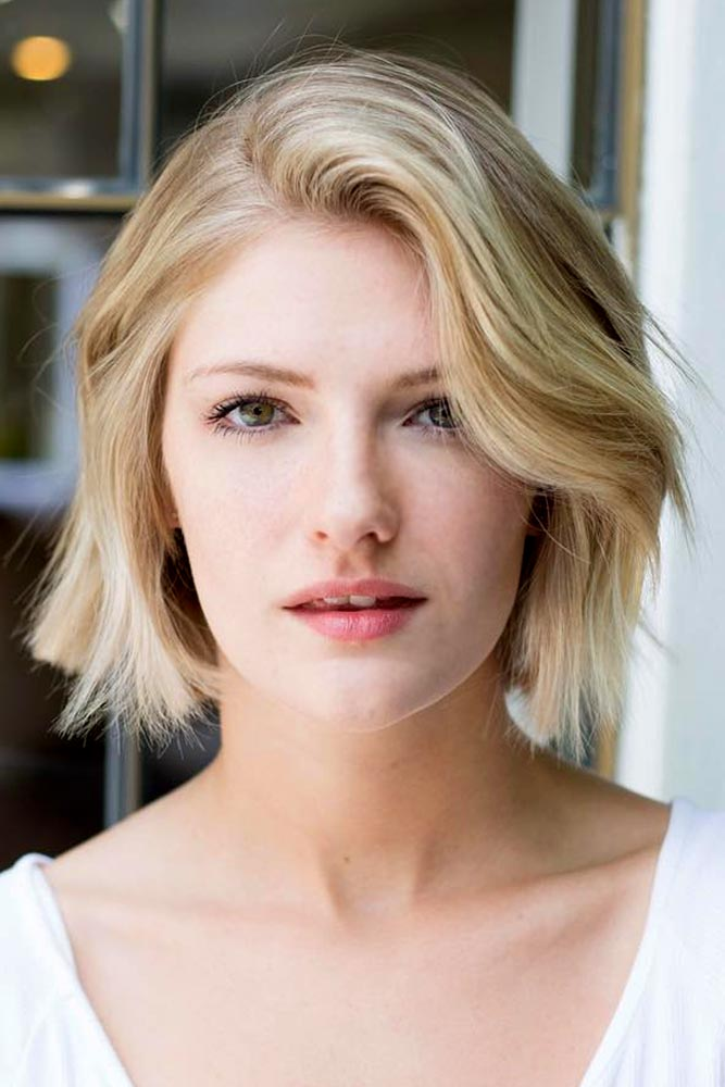 Side Swept Texturized Haircuts Blonde Bob #shorthairstyles #shorthair #hairstyles #bobhairstyles #blondehair
