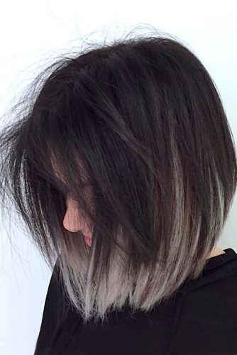 Dark Root Hair with Grey Color picture1