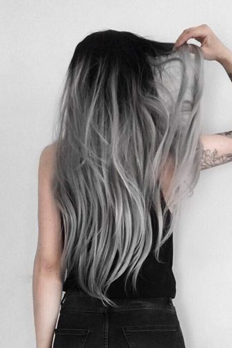 Dark Root Hair with Grey Color picture3