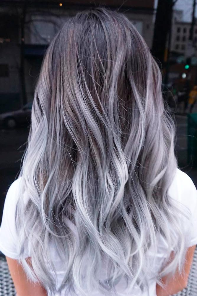 Light Grey Ombre Ideas for Long Hair picture3