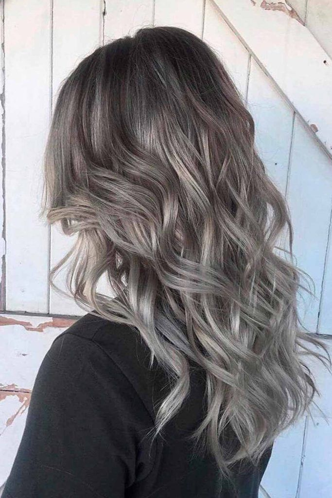 Ash Grey Long Hair