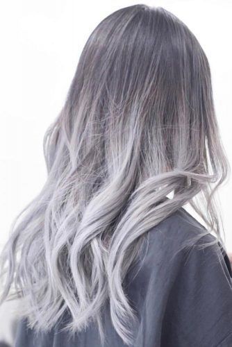 Ash Grey Hair #greyhair #ombre