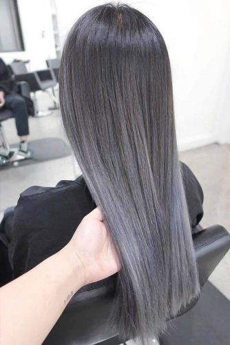 Dark Grey Ombre Hair #greyhair #ombre