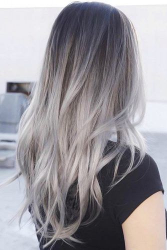 Light Grey Ombre Hair #greyhair #ombre