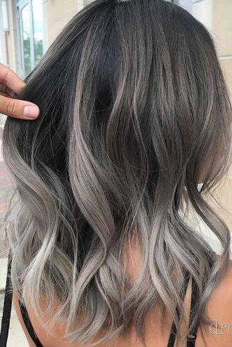 Wavy Ash Grey Hair #greyombrehair #haircolor #ombrehair
