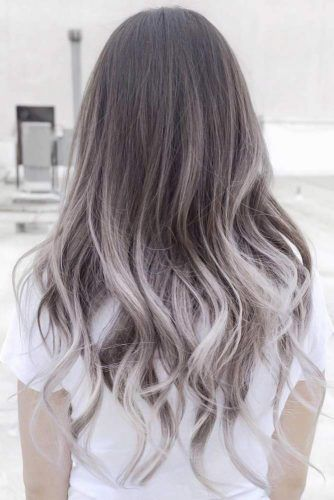 Silver Blonde Ombre Hair #greyhair #ombre