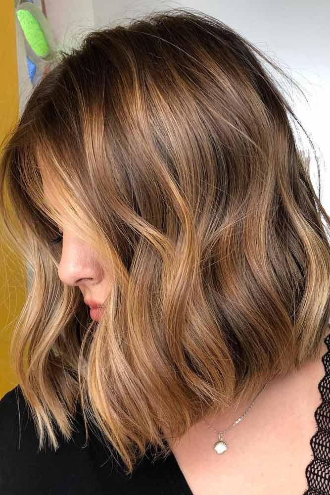 Blunt Lob #hairstyles #faceshape #longface