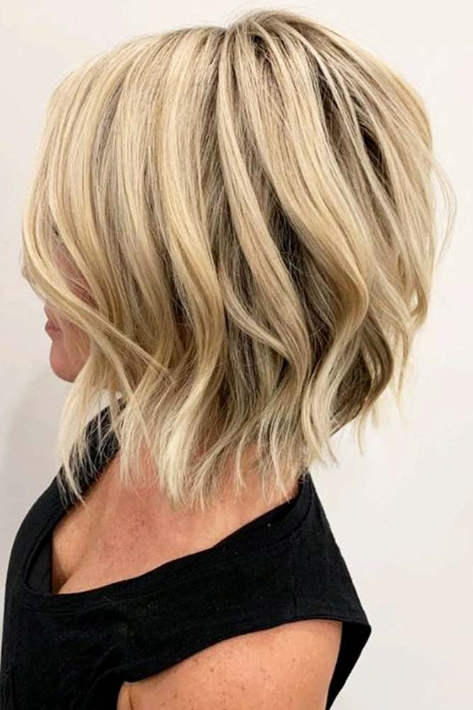 Inverted Lob #hairstyles #faceshape #longface