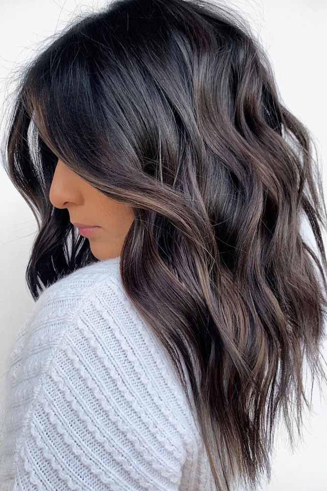 Inverted Messy Long Hairstyle #hairstyles #faceshape #longface