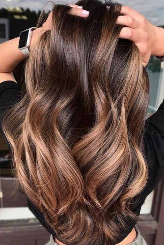 Long Hairstyle With Caramel Highlights #hairstyles #faceshape #longface