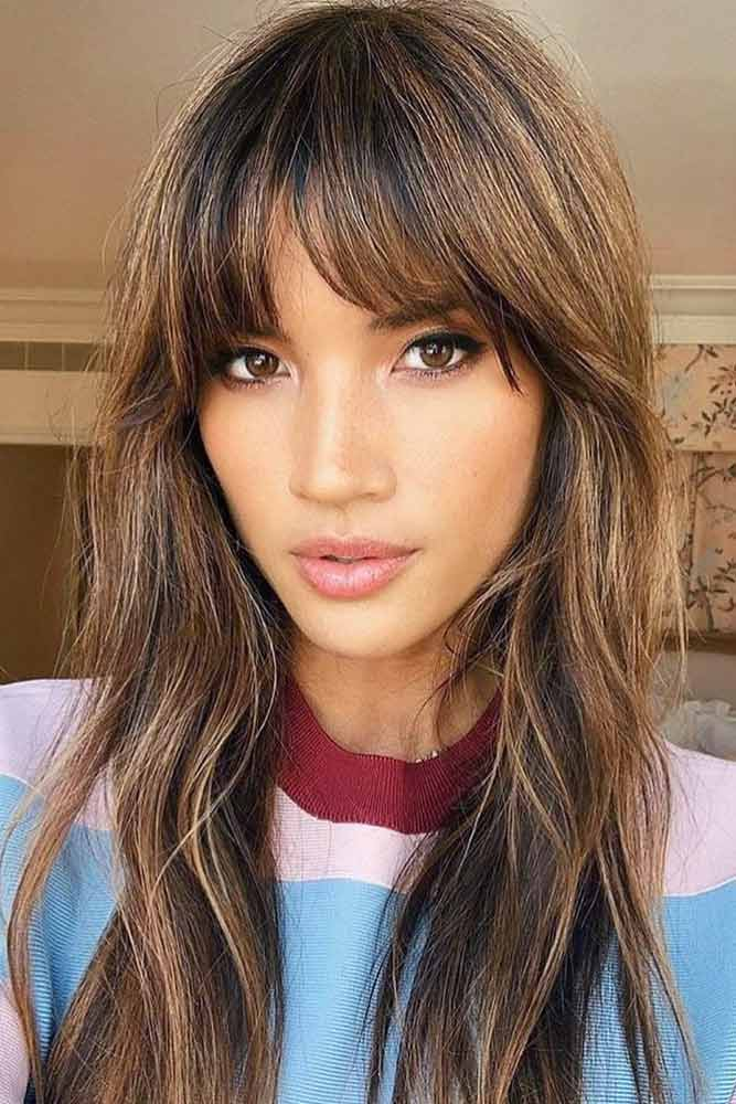 Straight Bangs For Long Faces #hairstyles #faceshape #longface