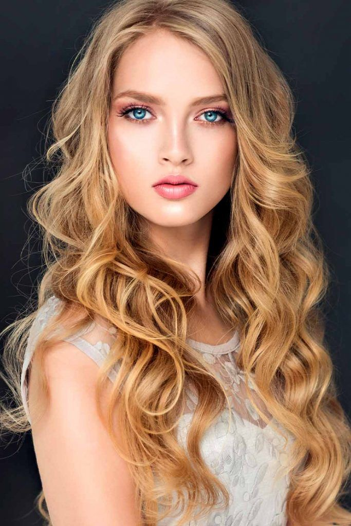 Beautiful Loose Waves For Long Faces Shape