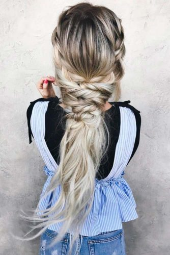 Mermaid Braid Hairstyles For Prom picture1