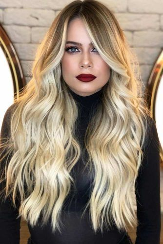 Blonde Long Waves #hairstylesforsquarefaces #faceshapes #hairstyles