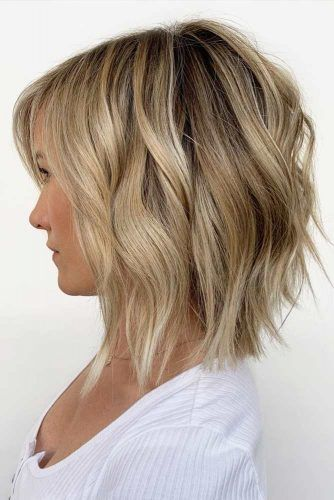 Inverted Long Bob #hairstylesforsquarefaces #faceshapes #hairstyles