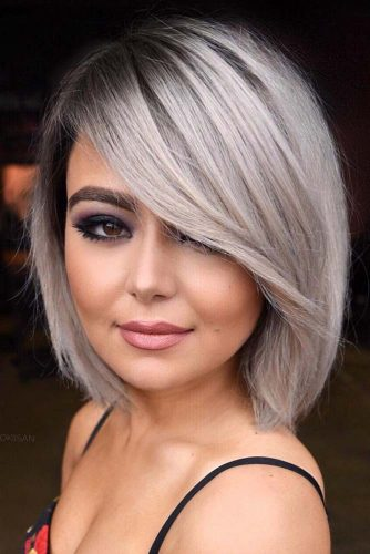 Straight Long Bob #hairstylesforsquarefaces #faceshapes #hairstyles