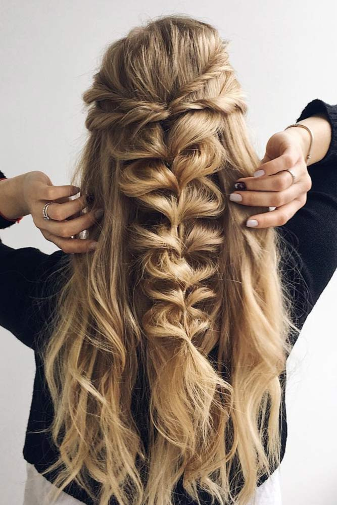 Half Up Half Down Prom Hairstyles with Braids picture2
