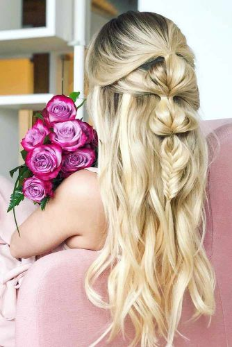 Half Up Half Down Prom Hairstyles with Braid picture3
