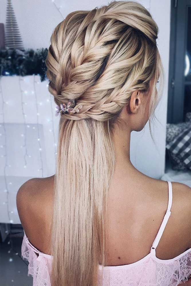 Half Up Prom Hairstyles To Surprise Everyone #halfup #braids