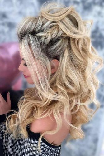Voluminous Half Up Half Down Prom Hairstyles picture2