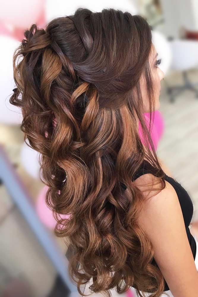 Voluminous Half Up Half Down Prom Hairstyles picture1