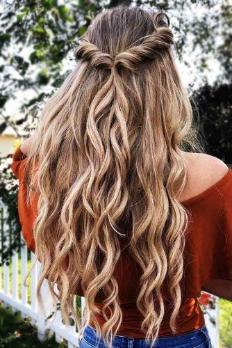 Half Up Hairstyles With Easy To Do Twists  #halfup