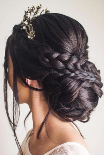 Headdress Jewelry Crown Braids #weddinghairstyles