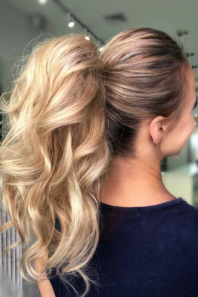 Messy Waves Style  #ponytail