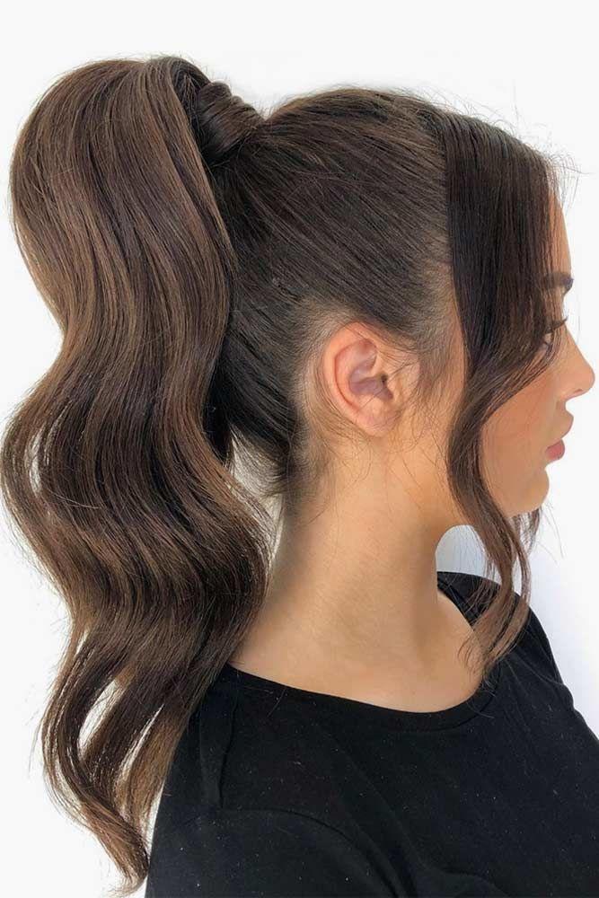 Tight And Sleek Wavy Tail #ponytail #wavyhair