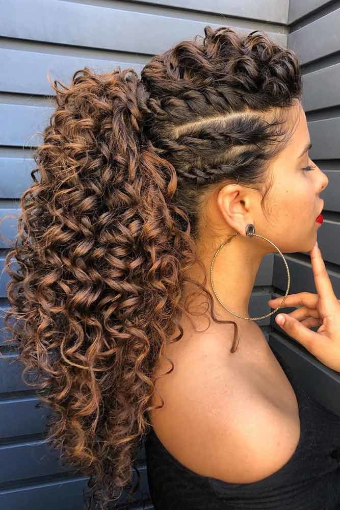 Twists Into Curly Pony #ponytail #highponytail #hairstyles