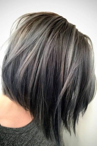Silver and White Highlighted Hair picture 1