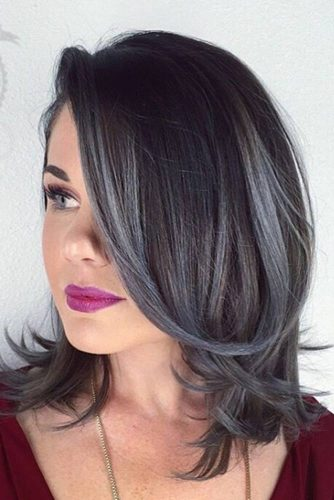 Silver and White Highlighted Hair picture2