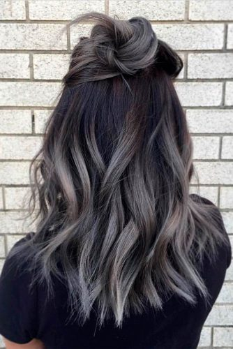 Silver and White Highlighted Hair picture 2