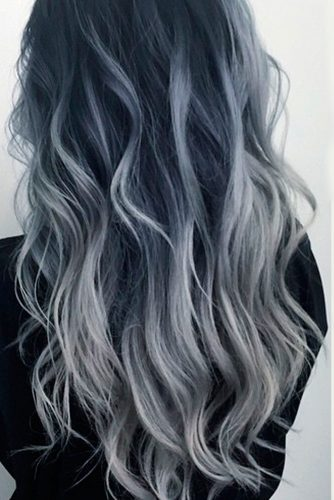 Silver and White Highlighted Hair picture 3
