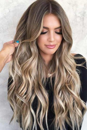 Blonde And Brown Balayage #brunette #highlights