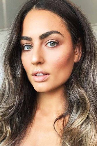 Silvery Blonde Highlights On Chestnut Brown Hair #brunette #highlights