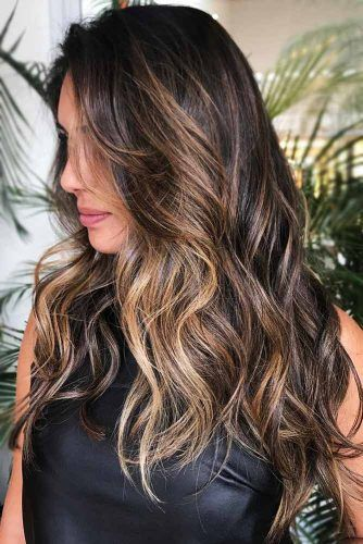 Dark Blonde Highlights #highlights #brunette