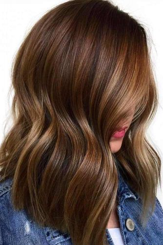Long Brown Highlighted Hair #brunette #highlights