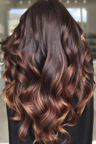 Chocolate Brown Hair With Highlights #brunette #highlights