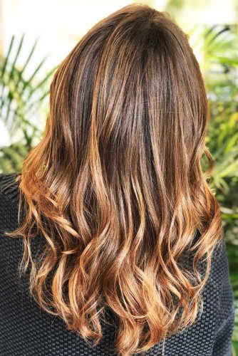 Most Delectable Caramel Highlights Hair Copper #brunette #highlights #wavyhair