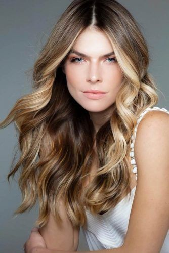 Brown Hair With Blonde Highlights #brunette #highlights