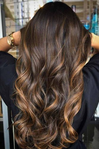 Warm Tones on Dark Brown Hair picture2