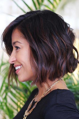 Highlights For Short To Medium Hair #brunette #highlights