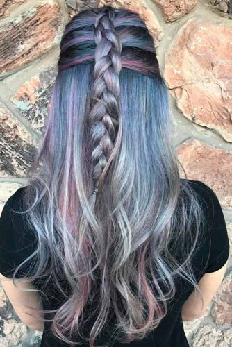 ilver and White Highlighted Hair picture3
