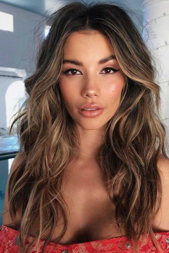 Most Delectable Caramel Highlights Hair #brunette #highlights
