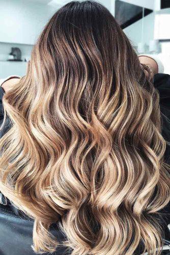 Brown Hair with Blonde Highlights #longhair #wavyhair #balayage