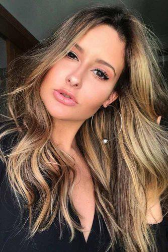 Caramel Highlights on Dark Hair #brunette #messyhair #longhair #highlights