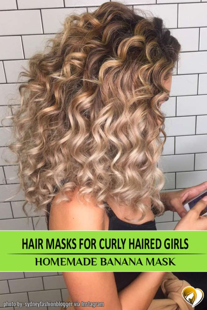 Banana mask for Curly Hair